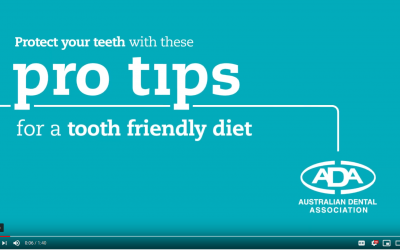 Attention to a good diet is important for dental and general health